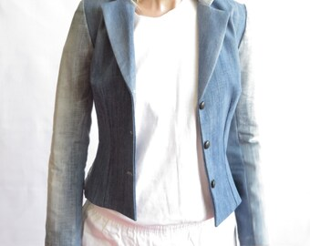 Tailor denim jacket blazer