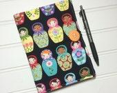 Mini Shopper - Notepad holder List taker - Matryoshka Dolls