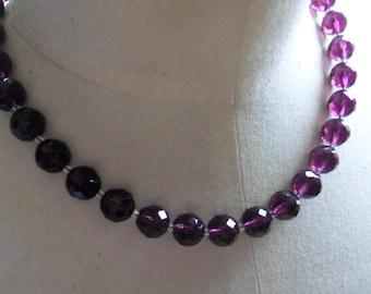 Vintage Purple Glass Necklace
