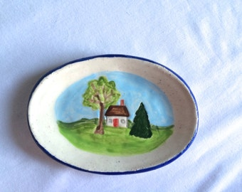 Little Country Cottage Oval Dish