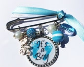 IT'S A BOY Baby Pin Brooch, Personalized Gift, Mom to Be gift