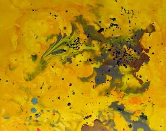 "SALE - Sunshine - original wax painting - 10""x10"""