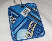 Luggage Tag from Recycled Blue Moon Belgian White Beer Labels