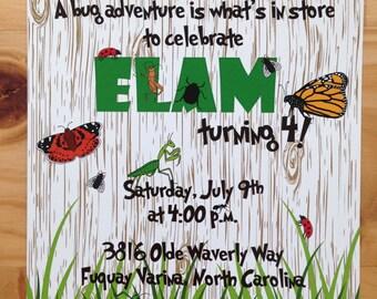 Bug Birthday Invitation | Insect Birthday Party | Boy Bug Party | Buggin' Out Party | Boy Birthday Invitation
