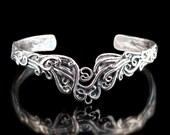 Ocean Wave Jewelry Water Bracelet Cascade Waterfall Cuff Bracelet Wave Bracelet Silver Jewelry Ocean Jewelry Wave Art Abstract Water Jewelry
