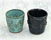 Shot Glass in Choice of Aqua or Blue/Black