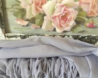 Silver Chiffon Chandelier/Cord Cover - Chandelier Decor - Lamp Decor - Curtain Rod Cover
