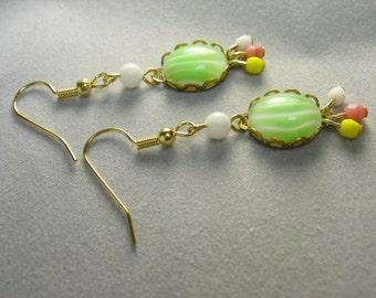 vintage cabochon dangle earrings