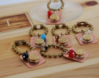 Bullet Casing-Wine Charms