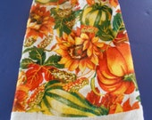 Fall Leaves and Vegetables Towel/Double Hanging Kitchen Towel