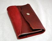 2016 Deep Red Leather Planner- Refillable