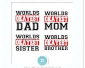Worlds okayest family digital cut file: svg, dxf, jpg