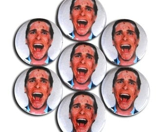 American Psycho 1inch Pinback Button or Magnet