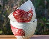 Fishy Fishy Fish Stoneware Bowls, Set of Two by Bunny Safari