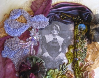 Embellished mixed media applique