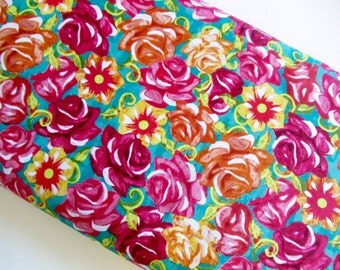 Sugar Skull Floral - David Textiles - cotton woven fabric by the yard