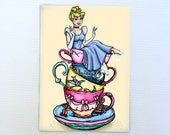 Teacup Cinderella Postcard
