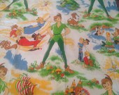 Finding Neverland Walt Disney Productions Wamsutta Peter Pan Fabric Beadspread Twin