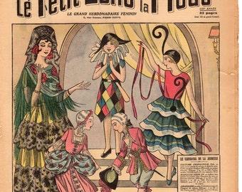 Le Carnival 1930s French Fashion Magazine Le Petit Echo de la Mode Costumes