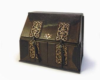 Deluxe Miniature Victorian Vampire Hunter's Desk and Laboratory