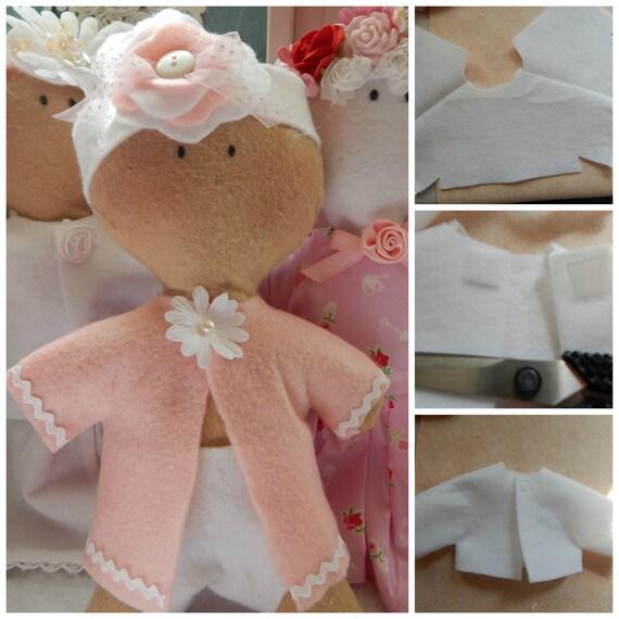 "Sewing Pattern PDF Feltie NEWBORN Baby Doll & Clothes  Pattern -Doll 10 1/2"" tall"
