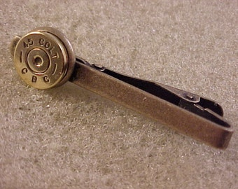 45 Colt Bullet Tie Clip Recycled Repurposed