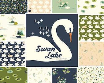 Fat-Quarter Bundle in Swan Lake, from Birch Organic Fabric