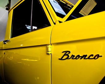 1973 Ford Bronco Pickup Truck Car Photography, Automotive, Auto Dealer, Muscle, Sports Car, Mechanic, Boys Room, Garage, Dealership Art