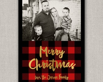 Buffalo Check Christmas Card