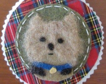 Felted Yorkie Ornament