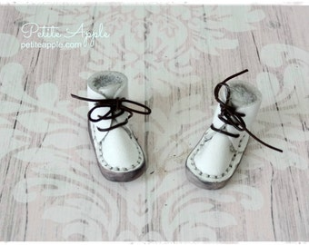 White -Real Leather boots/shoes for Blythe dolls and 1/6 BJD dolls