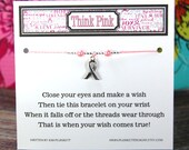 Think Pink - Style 4 - Wish Bracelet - Shown In PINK MIST - Over 100 Colors Available