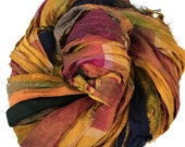Sari Silk Ribbon, Reclaimed, Recycled, Fair Trade, Skein no. 316, 50 yds.