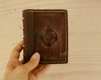 Little Magic Book, Vintage Leather Journal with Aged Pages