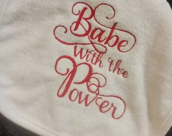 Labyrinth Baby Bib, Embroidery/Applique Unique Baby Gift