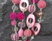 Bubble Gum Knotted Necklace