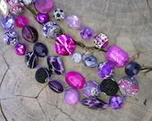 Pink & Purple Knotted Necklace