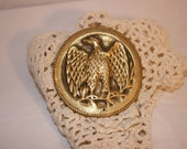 FREE SHIPPING needs repaired vintage eagle brass belt buckle