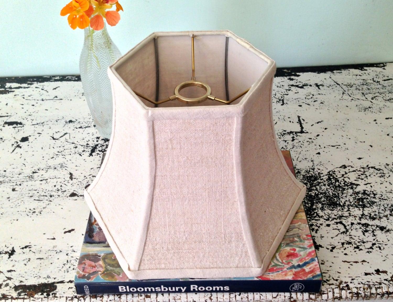 uno shade linen bridge lampshade vintage natural homespun. Black Bedroom Furniture Sets. Home Design Ideas