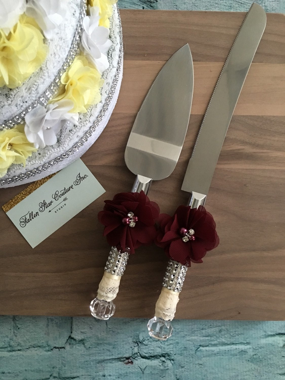 wine wedding cake knife set burlap knife set cake cutting. Black Bedroom Furniture Sets. Home Design Ideas