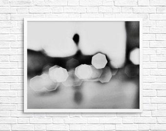 Abstract Photography, Black White Bokeh, Bokeh Photo, Los Angeles Street Photo, Sliver  - LA Bokeh