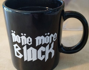 None More Black Coffee or Tea Mug Cup Spinal Tap
