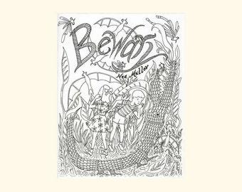 Bewary: Zine, Coloring Book