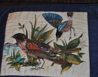 Small Wall Quilt of Birds on Ground #1