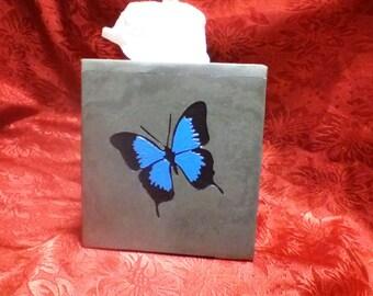 Slate tissue box cover