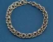 Chain link bracelet, historical renaissance style