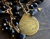 Sobriety Nothing Owns Me Today Bracelet AA Alcoholics Anonymous Recovery Inspirational Charm Triangle