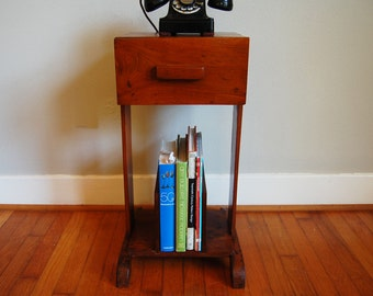 Telephone Stand, Plant Stand, Night Stand, Side Table, Magazine Storage, Book  Storage, Vintage, Wood
