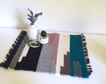 Table Textile No.1 - Turquoise and Rose