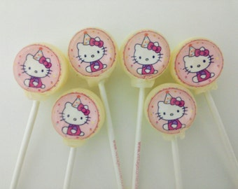 Hello Kitty cake and lollipop set